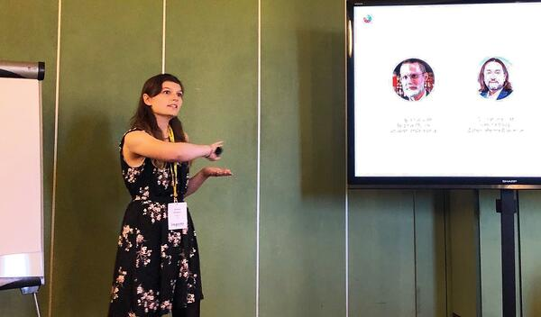 Data scientist Alanna Riederer presents at the ISPIM Annual Conference 2019