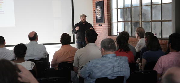 Devin O'Bryan speaks at Data+Creativity