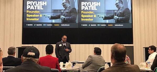 Keynote speaker Piyush Patel, angel investor, author, former CEO of Digital-Tutors