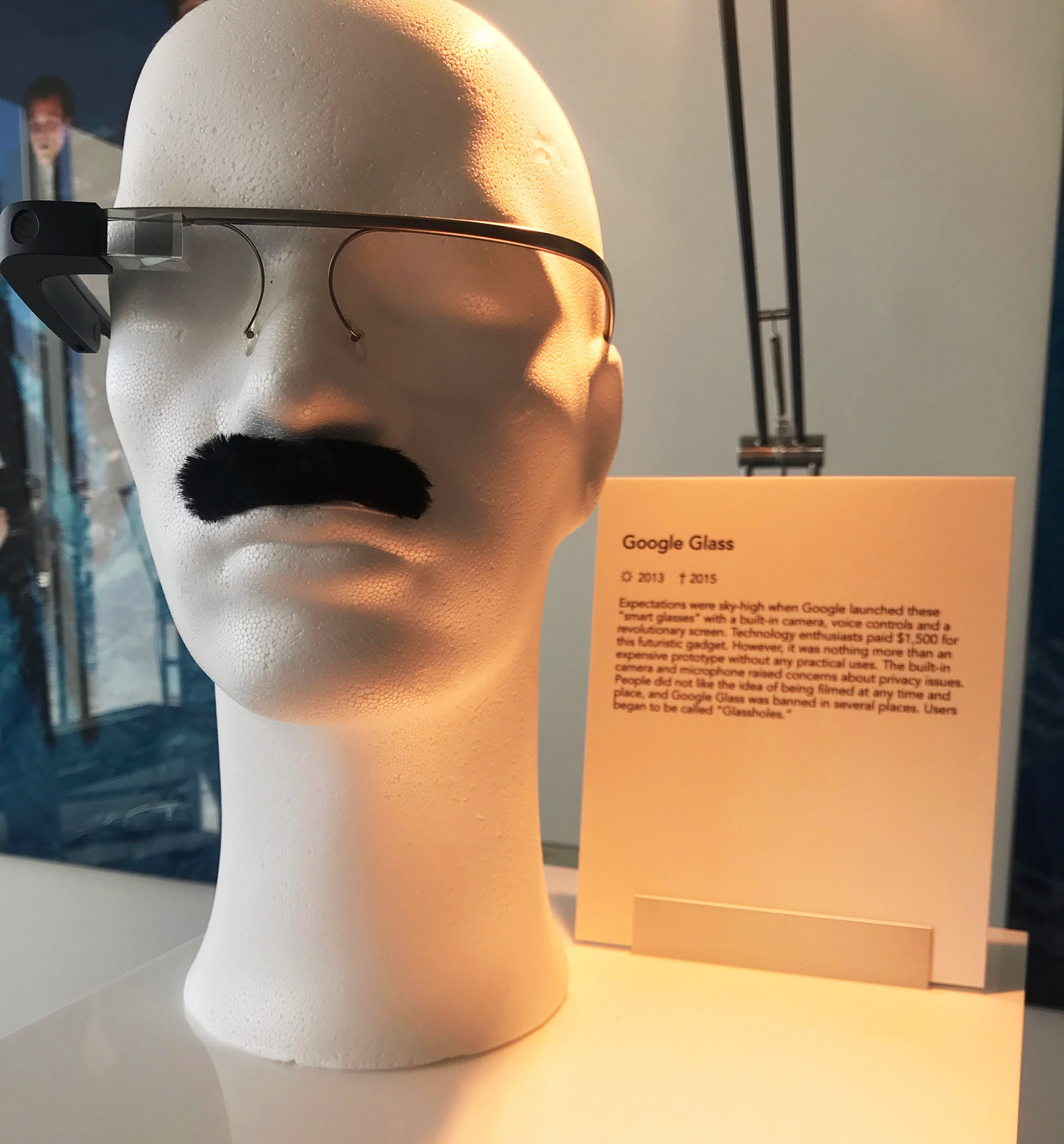 Poll: which is the bigger fail, Google Glass or the mustache?