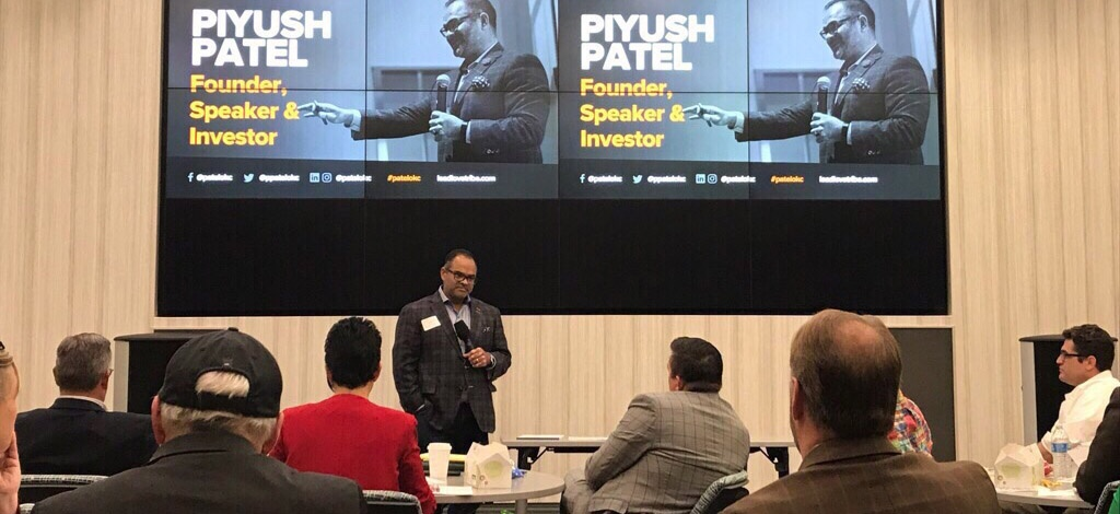 Keynote speaker Piyush Patel, angel investor, author, former CEO of Digital-Tutors